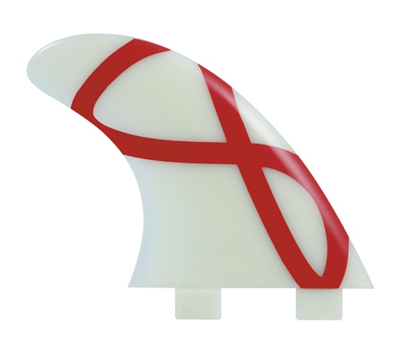 China Factory Direct Supply White and red stripe Fiberglass fcs surfboard fins