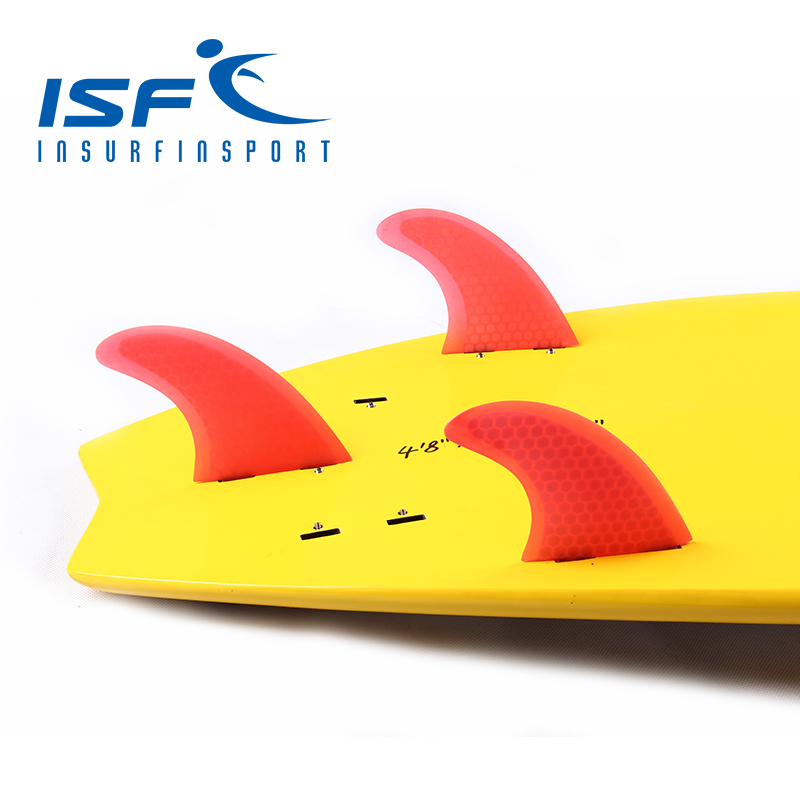 surf fin fiberglass honeycomb fin red