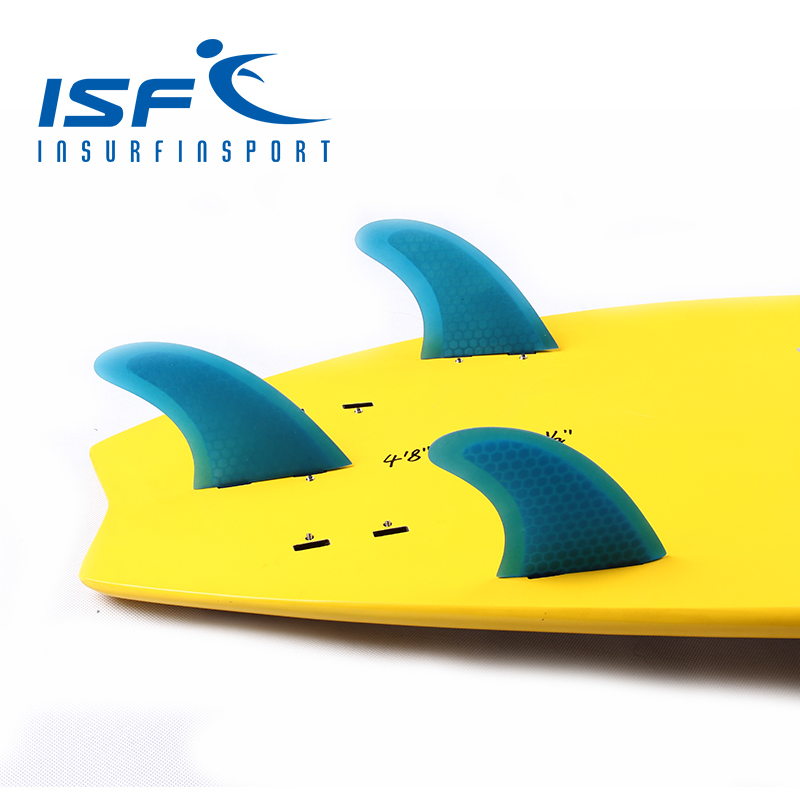 surf fin fiberglass honeycomb blue