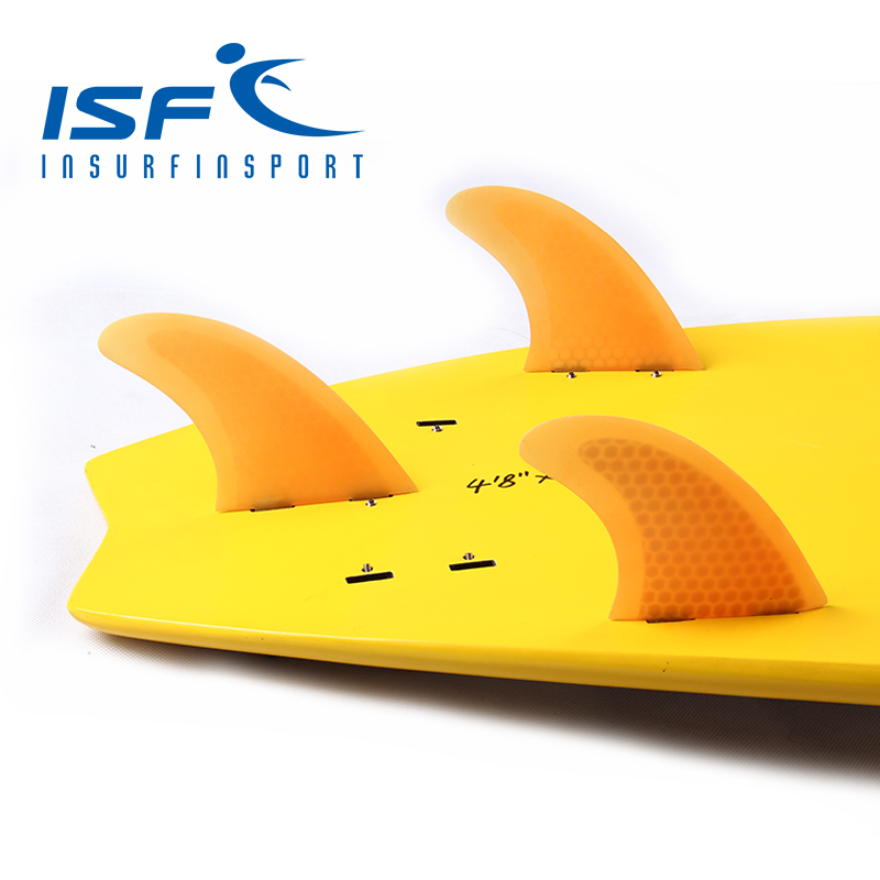 surf fin fiberglass honeycomb fin orange