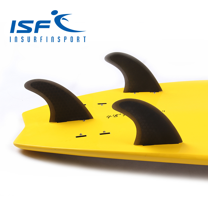 surf fin honeycomb fiberglass Black