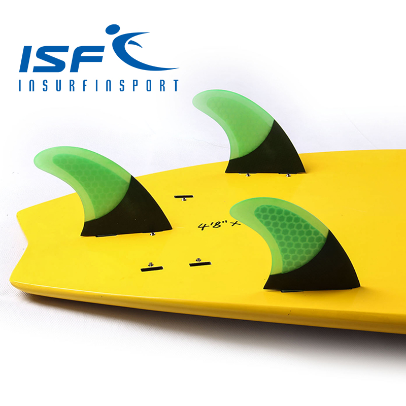 surf fin carbon green