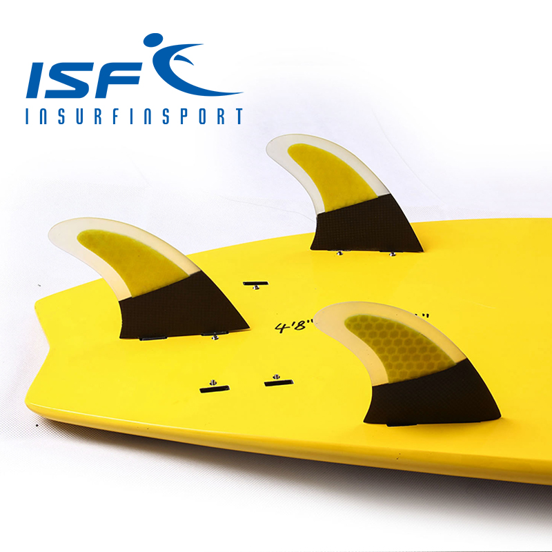 surf fin carbon fin yellow
