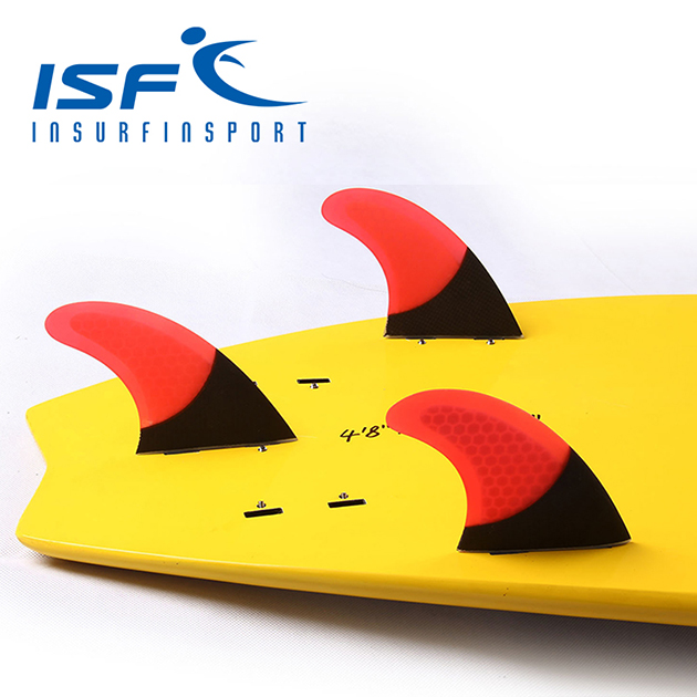 surf fin carbon red
